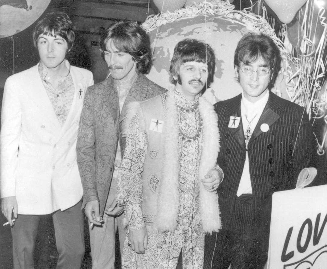 Die Beatles 1967:  Paul McCartney, George Harrison, Ringo Starr und John Lennon (von links).