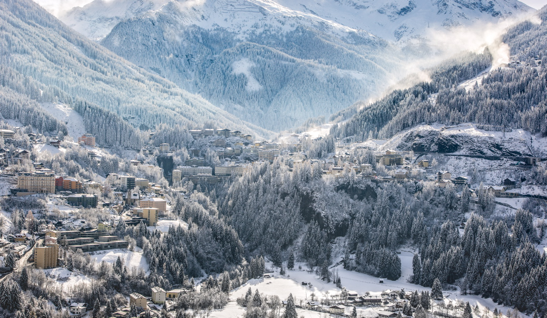 Winterwonderland in Bad Gastein in Österreich