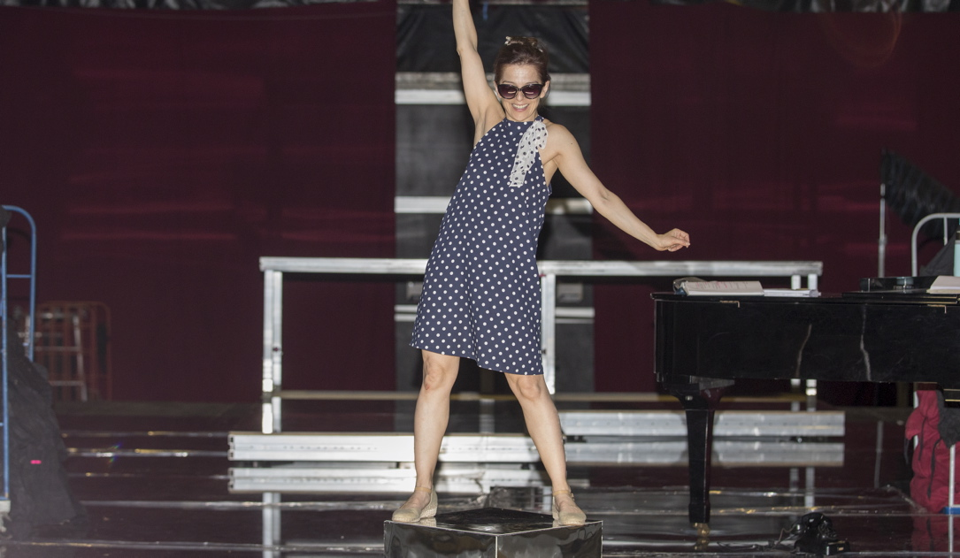 "Vasiliki Roussi spielt im Musical ""End of the Rainbow"" den US-amerikanischen Hollywoodstar Judy Garland."