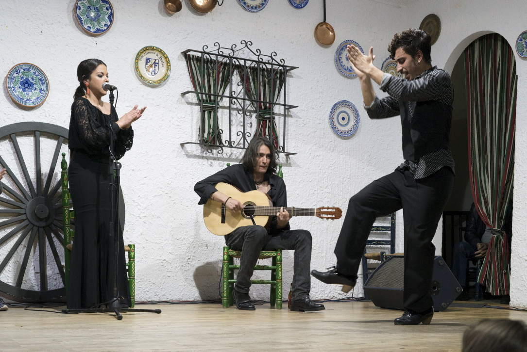 Flamenco in der La Perla Flamenca in Cadiz.